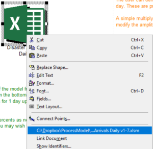 Open Disaster Arrivals Daily excel file