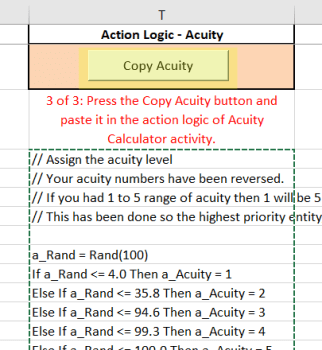 copy acuity button in Daily Pattern Arrivals Healthcare