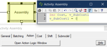 action logic assembly activity transfer cost