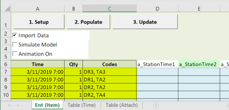 enter arrival schedule arrivals with table input