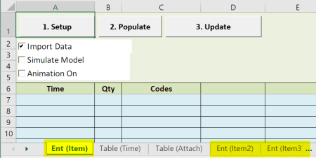 more than one entity scheduled arrivals with table input