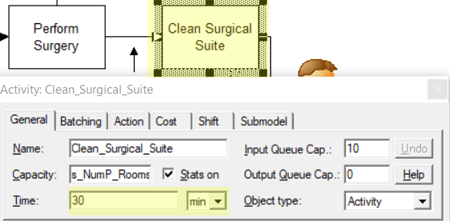 update time in clean surgical in Surgical Suite