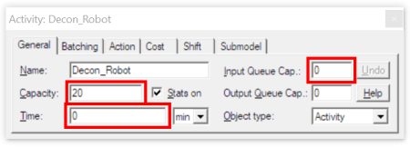 Change the input Queue Capacity to zero