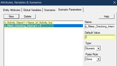define scenarios in Meter Showing Percent Full