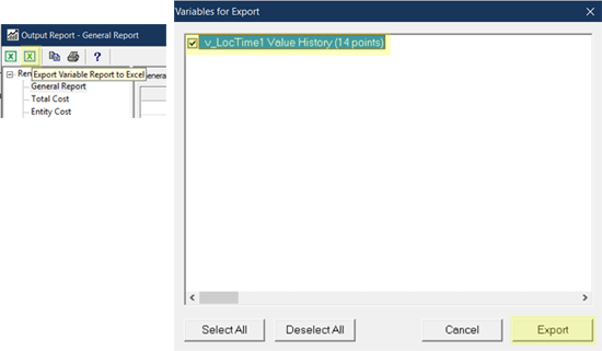 export var data in Remaining Length of Stay Estimator