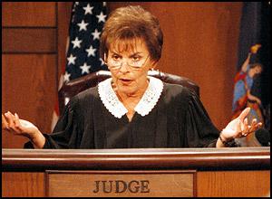 Judge Judy questions the defendant.
