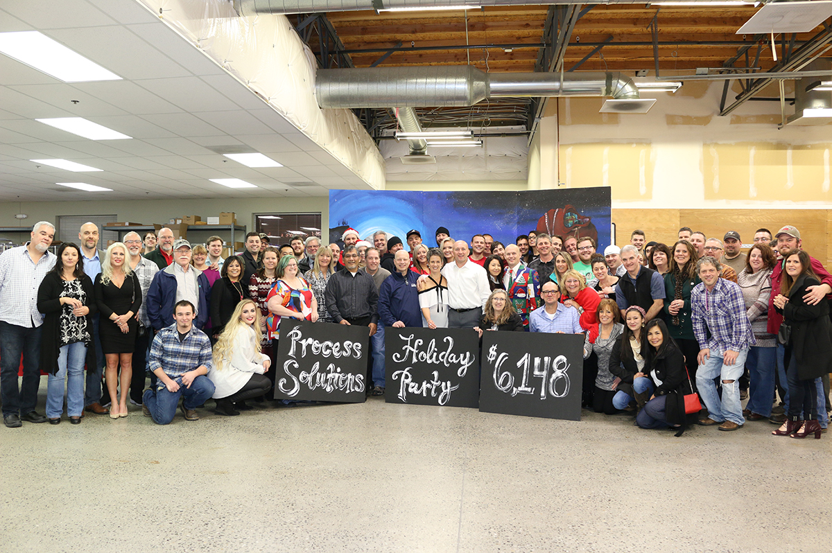 Process Solutions Celebrates The Holidays with Games, Food, Prizes, and Charity