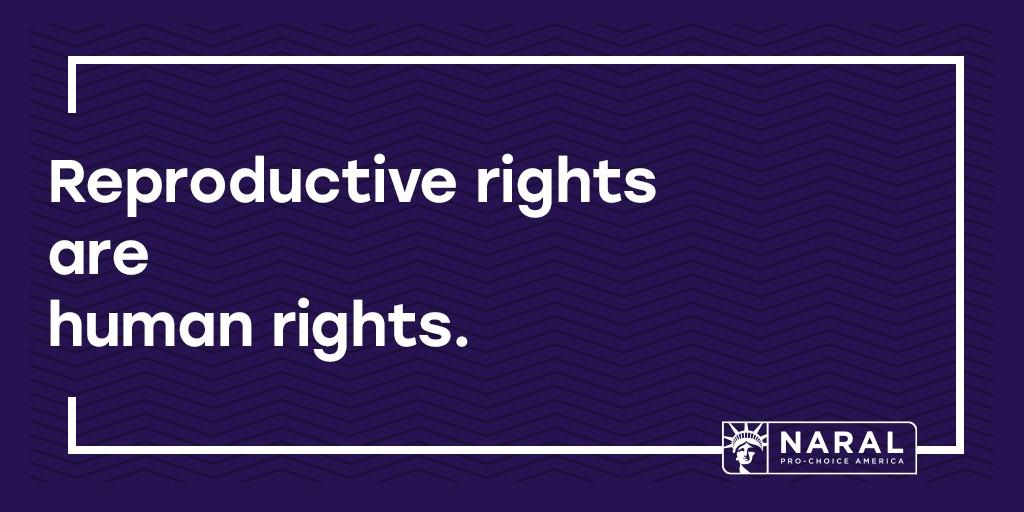 Reproductive Rights Are Human Rights Naral Pro Choice
