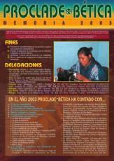 MEMORIA PROCLADE BÉTICA 2003