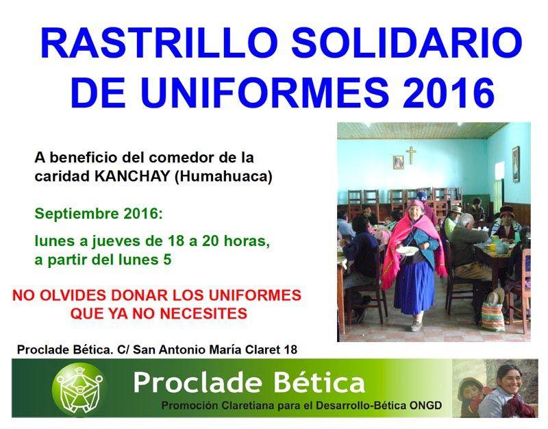 Rastrillo solidario de uniformes