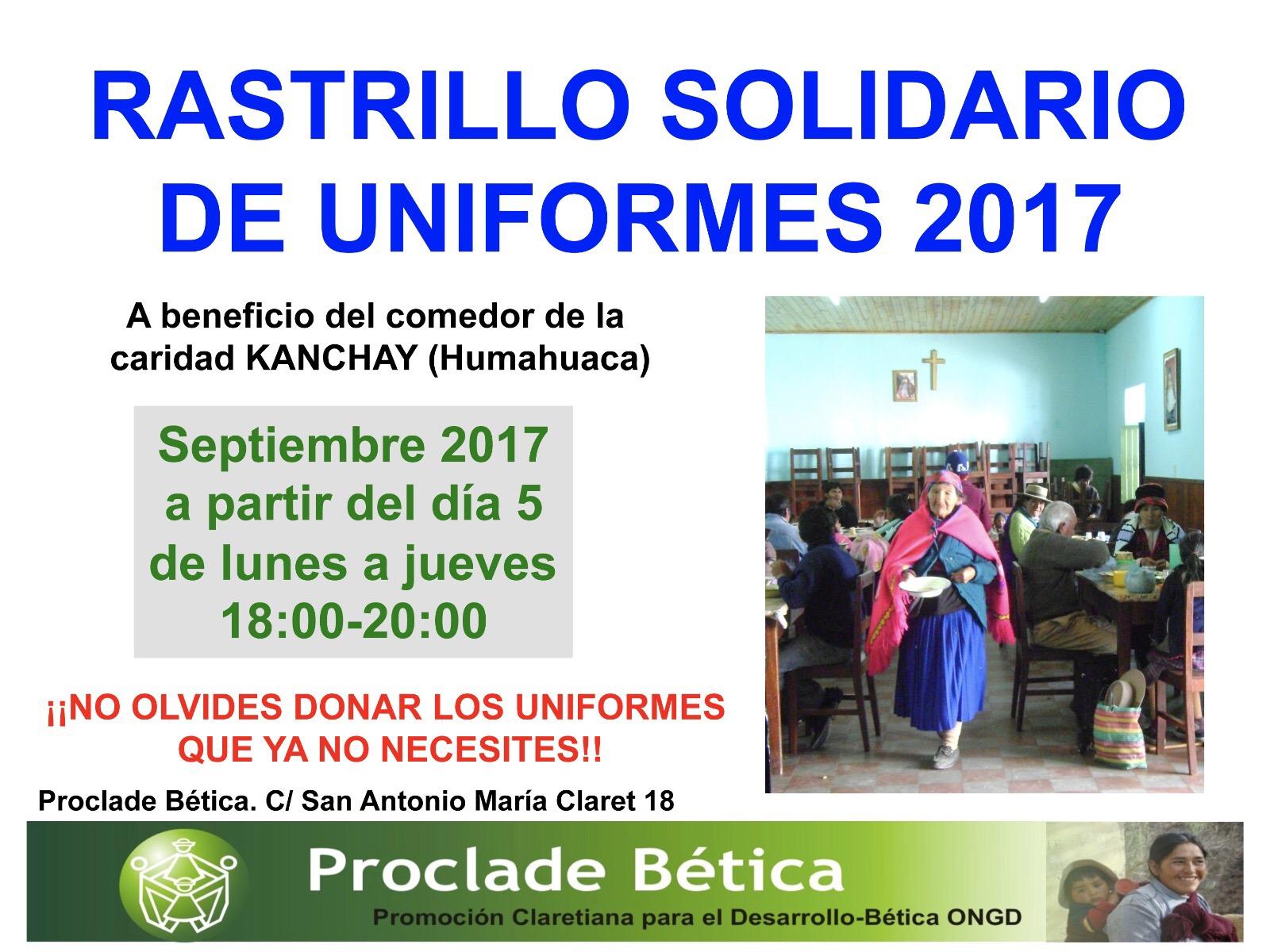 Rastrillo Solidario de Uniformes 2017