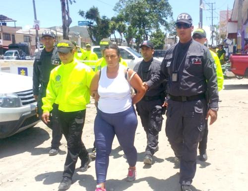 NUBIA SALAZAR FIGUEROA - capturada por el CTI en Santander de Quilichao