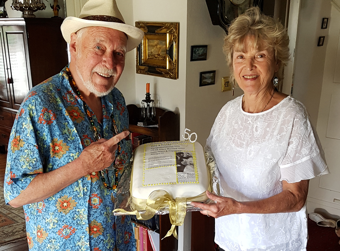Franky and Gary Brooker celebrate fifty years of marriage