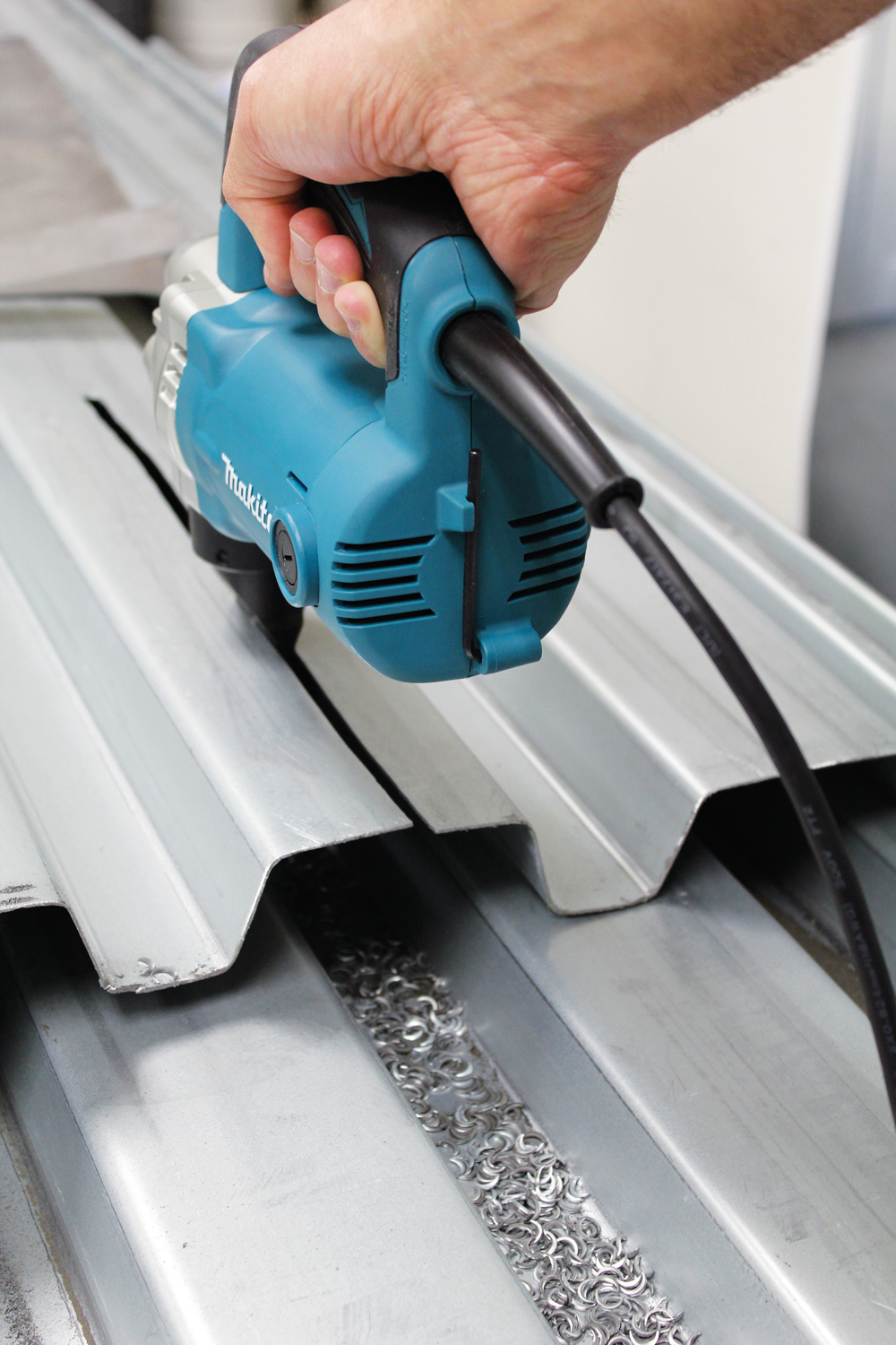 Cutting Metal Roofing With Nibbler