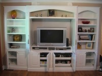 Built-In White Entertainment Center  Procraft Woodworks