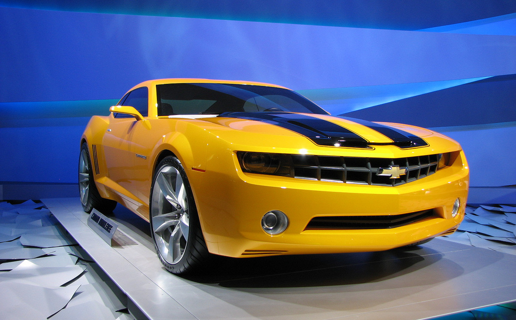 The newest iteration of Bumblebee from the movie Transformers. Image courtesy of Kevin Ward on Flickr.
