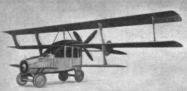 Image courtesy of Wikipedia.org. Flight magazine 1917. CC0 Public Domain.