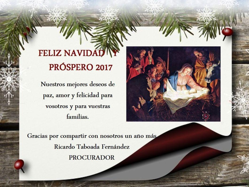 Felicidades por Navidad y 2017