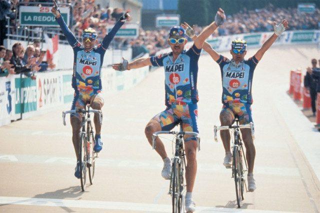 Paris Roubaix 1996 Johan Museeuw Bortolami Tafi