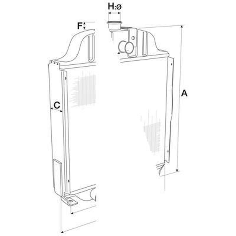 Radiateur pour Case IH 1056 XL
