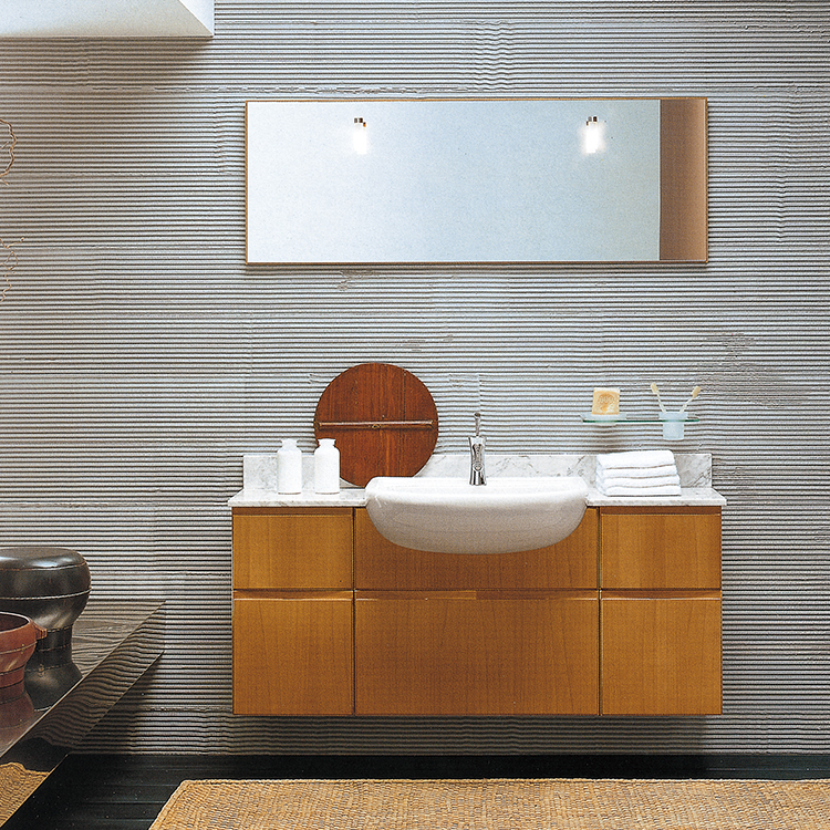 Hanging Wood Bathroom Vanity PVC Bathroom Cabinets