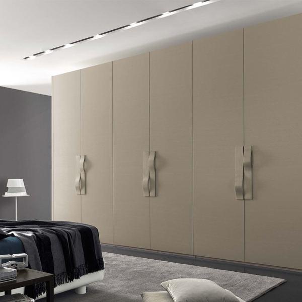 Laminate Finish Wardrobe Living Room Design