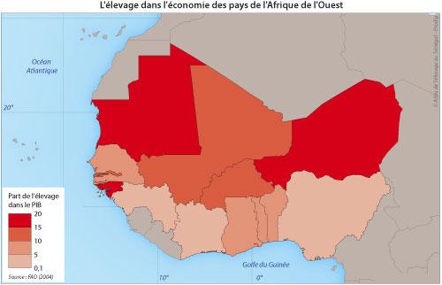 Sénégal-Le commerce de bétail sur pied-Les circuits régionaux de commercialisation-L'élevage dans l'économie des pays de l'Afrique de l'Ouest