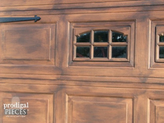DIY Faux Wood Garage Door Tutorial by Prodigal Pieces via Remodelaholic