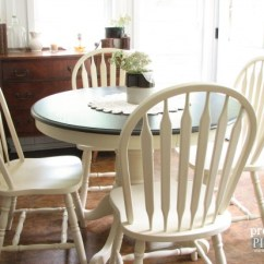 Diy Painted Windsor Chairs Lyre Back Farmhouse Table Makeover With Homeright Sprayer Prodigal Pieces Outdated 1980 S Dining Set Gets By Www Prodigalpieces Com