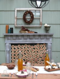 DIY Faux Fireplace : Indoor or Outdoor