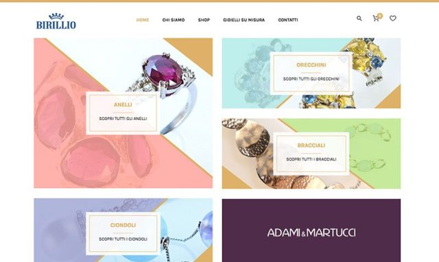 Creazione sito web gioielleria