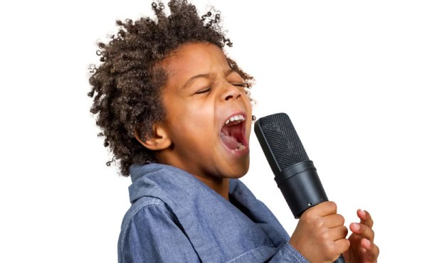 open your mouth to sing