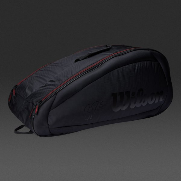 Wilson Federer Team 6 Pack - Black Tennis Bag Wrz833706