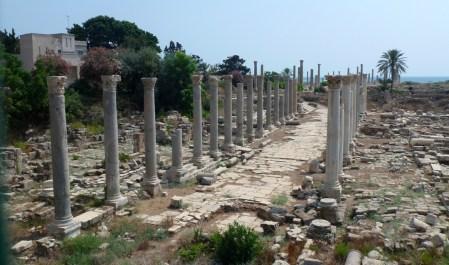 la rotta dei Fenici: tiro-via-colonnata-