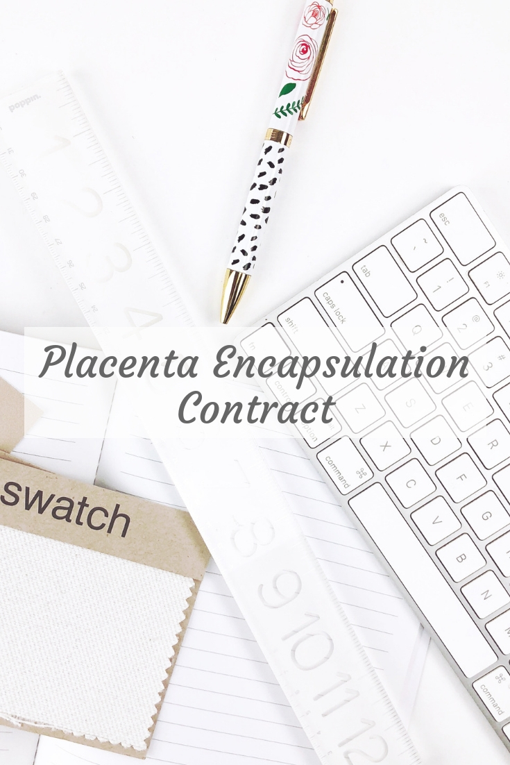 Placenta Encapsulation Contract | Doula Training and Certification
