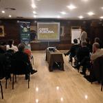 """Reunión organizada por Merial bajo el título """"Grip porcina: mite o realitat""""."""