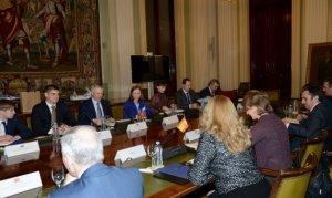 Reunión en el Magrama con la delegación rusa. Foto: Magrama.
