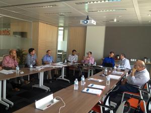 Reunión en las oficinas de Zoetis en Madrid