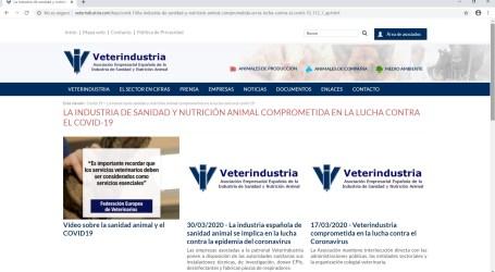 Veterindustria pone en marcha una sección específica en su web para informar sobre la crisis del COVID-19