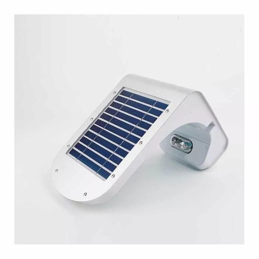 Aplique de pared solar LED detector presencia lampara
