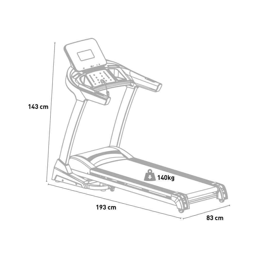 tapis roulant de fitness electrique a inclinaison amortie pliante numerique hordak