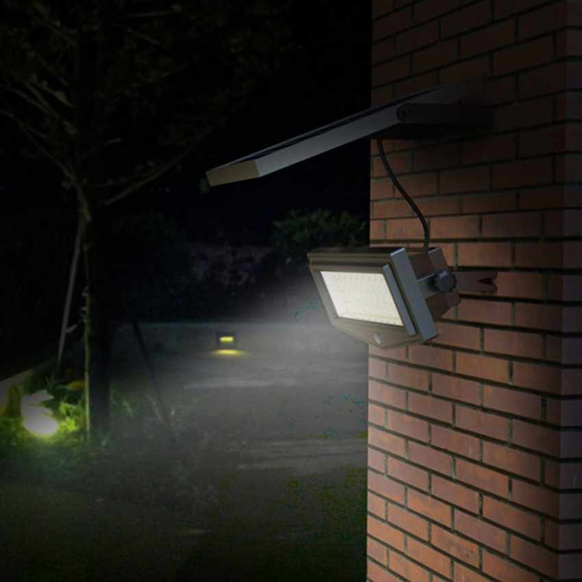 Faro a Muro LED a Energia Solare con Sensore Movimento
