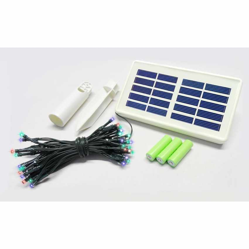 Luci LED Natalizie da Esterno a Energia Solare con Batteria a Lunga Durata