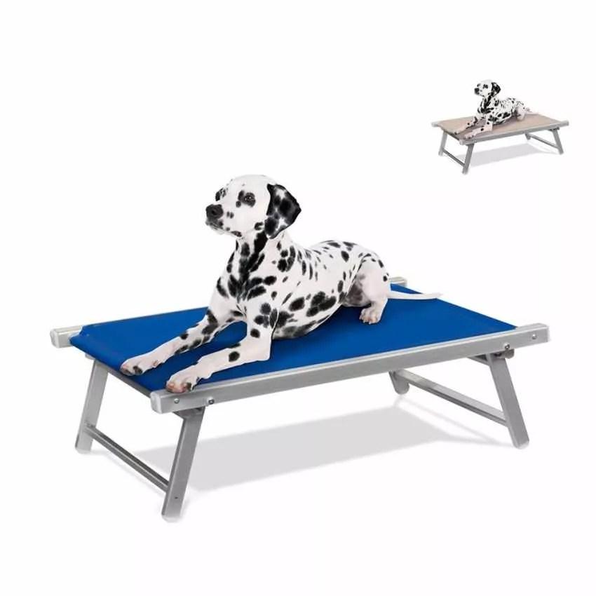 Lettino Brandina per Cani Cuccia in Alluminio e Textilene Lavabile DOGGY