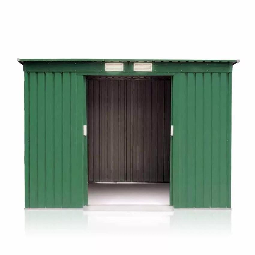 Casetta Box in Lamiera Zincata Verde per Attrezzi