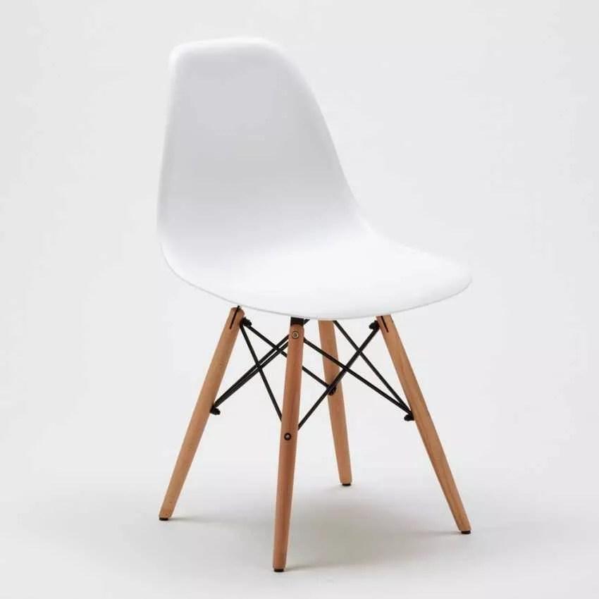 Sedia di Design per Cucina Salotto e Bar DSW WOODEN