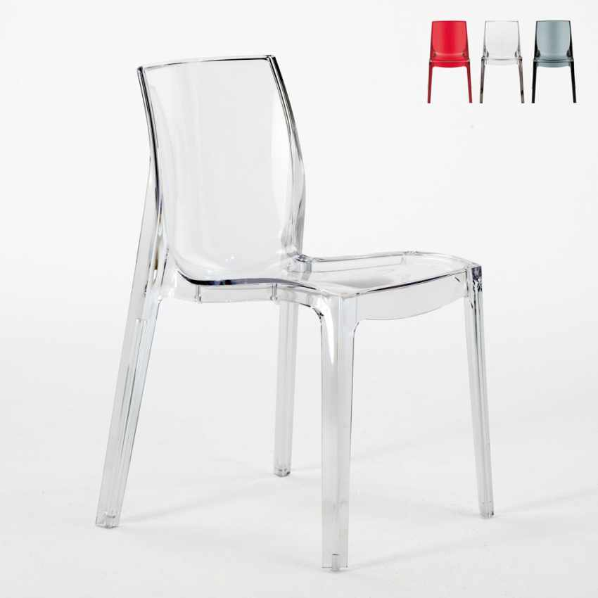 transparent polycarbonate chairs inflatable cheap design chair in for the kitchen living rooms made italy femme fatale
