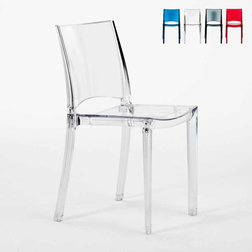 transparent polycarbonate chairs bean bag stool chair design hair in made italy for home interiors b side promo