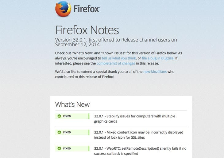 Firefox 3201 Update Release Notes Product Reviews Net