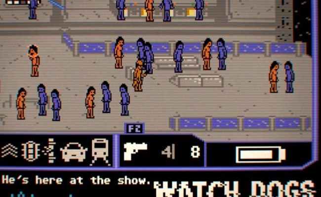 Watch Dogs In Retro Commodore 64 Gameplay Product
